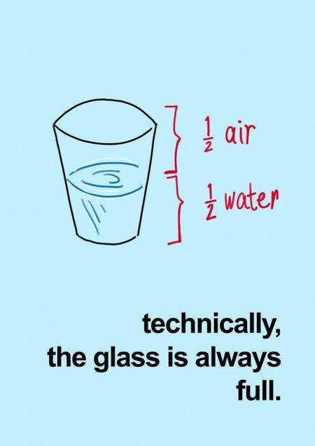 Szklanka jest zawsze pełna