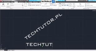 tekst - darmowy kurs AutoCAD