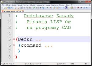 Podstawowe zasady pisania - programy lisp