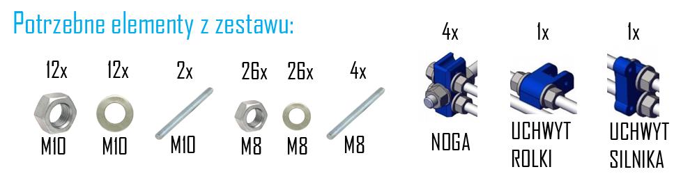 drukarka 3d potrzebne elementy - montaż drukarki 3d