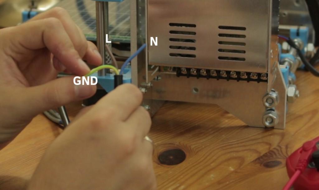 identyfikacja przewodów zasilania drukarki 3d