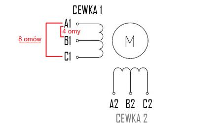 identyfikacja wyprowadzeń silnika unipolarnego drukarki 3d