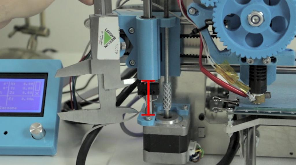 kalibracja drukarki 3d - poziomowanie osi X