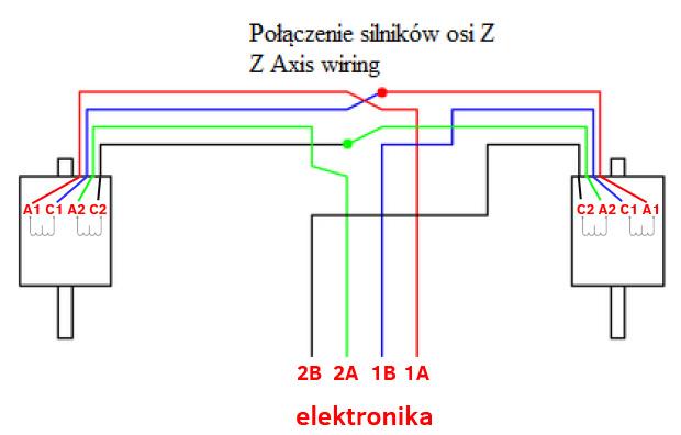 szeregowe łączenie silników krokowych w drukarkach 3d - prusa i3