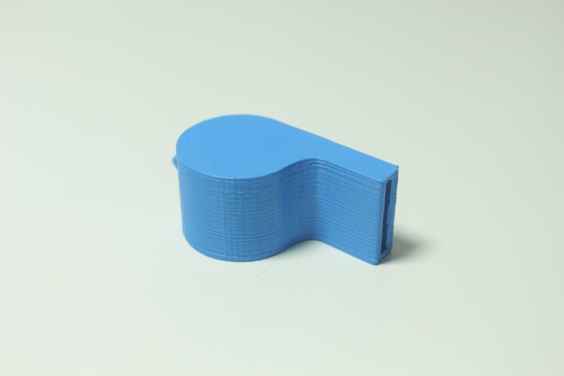gwizdek wydrukowany na drukarce 3d