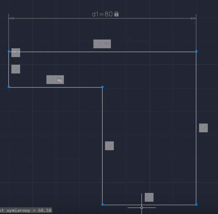 więzy wymiarowe - projektowanie parametryczne