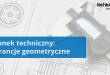 Symbole tolerancji geometrycznych na rysunku technicznym